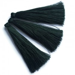 Chwosty frędzle z wiskozy 70-80mm ciemno zielony