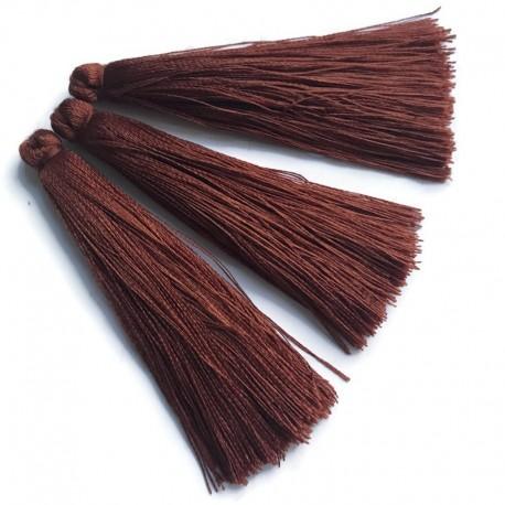 Chwosty frędzle z wiskozy 70-80mm brązowy