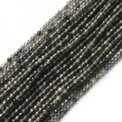 Obsydian kulka 2mm sznurek