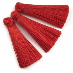 Chwosty frędzle z wiskozy 35mm czerwony