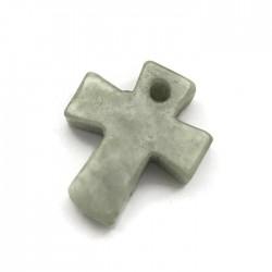 Jadeit naturalny Krzyżyk 22mm