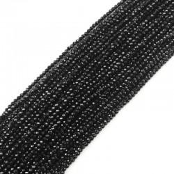 Spinel kulka fasetowana 3-3,5mm czarny sznurek
