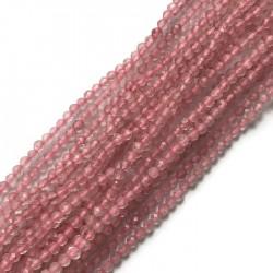 Kwarc różowy kulka 2mm sznurek