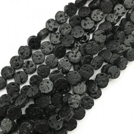 Lawa wulkaniczna pastylka 12mm czarny