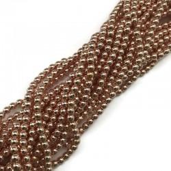 Hematyt kulka gładka  4mm rose gold sznurek