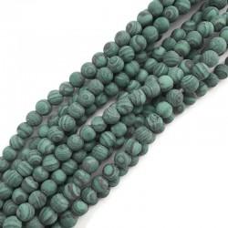 Malachit kulka matowa 6mm sznurek