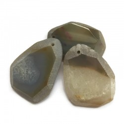 Agat brazylijski plaster nieregularny beż ok. 5,5x5 cm