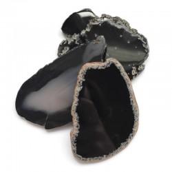 Agat brazylijski plaster nieregularny czarny ok. 7x5 cm