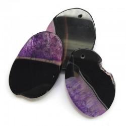 Agat brazylijski plaster nieregularny fioletowo-czarny ok. 5,5x4 cm