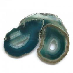 Agat brazylijski plaster nieregularny turkusowy z druzą ok. 7x5 cm