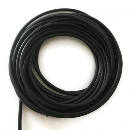 Kauczuk jubilerski 3,2 mm czarny, gumowy