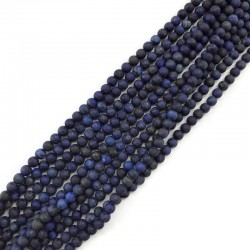 Lapis Lazuli kulka matowa 4mm sznurek