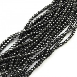 Hematyt kulka gładka 4mm czarny sznurek