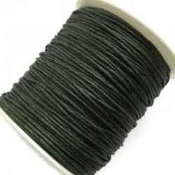 Sznurek bawełniany woskowany 1mm - ciemna oliwka