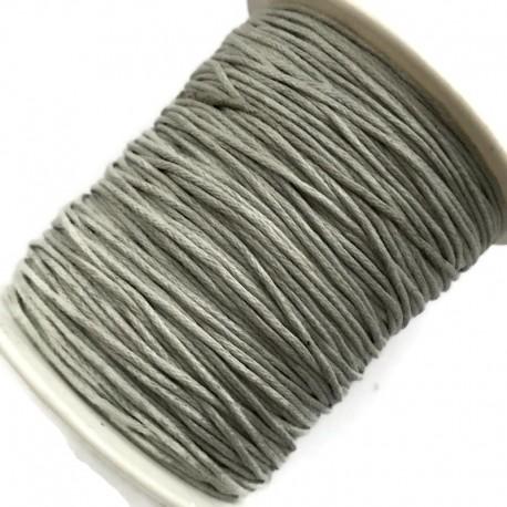 Sznurek bawełniany woskowany 1mm - jasno szary