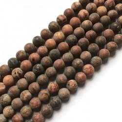 Agat kulka 8mm brązowy sznurek