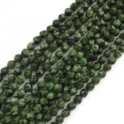 Jaspis bryłka 8mm sznurek zielony mix