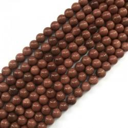 Piasek Pustyni kulka gładka 8mm sznurek brąz
