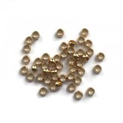 Przekładka kuleczka 2,5x1,5mm stal nierdzewna Złoty