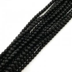 Black Stone kulka 6mm czarny matowy sznurek
