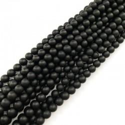 Black Stone kulka 8mm czarny matowy sznurek