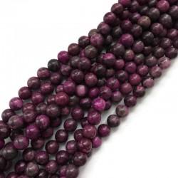 Czaroit kulka gładka 10mm fiolet znurek