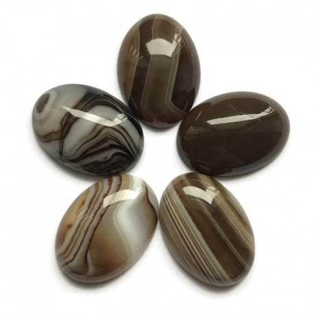Agat kaboszon 25x18mm kamień do soutache i haftu