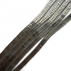 Hematyt fala 6x3mm srebrny