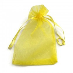 Woreczek z organzy w kolorze żółtym 14x10cm