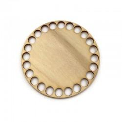 Baza drewniana, dno do koszyka, denko koło 10mm sklejka