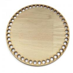 Baza drewniana, dno do koszyka, denko koło 20cm sklejka