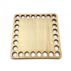 Baza drewniana, dno do koszyka, denko kwadrat 10cm sklejka