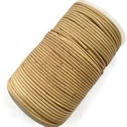 Indyjski Sznurek bawełniany woskowany 2mm - beżowy