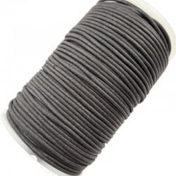 Indyjski Sznurek bawełniany woskowany 2mm - ciemny szary