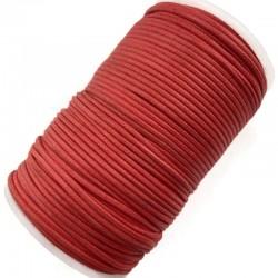 Indyjski Sznurek bawełniany woskowany 2mm - czerwony