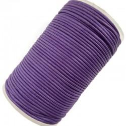 Indyjski Sznurek bawełniany woskowany 2mm - fiolet