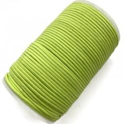 Indyjski Sznurek bawełniany woskowany 2mm - jasno zielony
