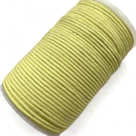 Indyjski Sznurek bawełniany woskowany 2mm - limonka