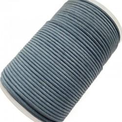 Indyjski Sznurek bawełniany woskowany 2mm - niebieski morski