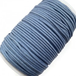 Indyjski Sznurek bawełniany woskowany 2mm - niebieski