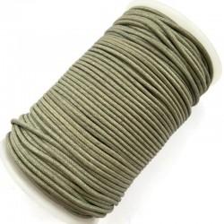 Indyjski Sznurek bawełniany woskowany 2mm - oliwka