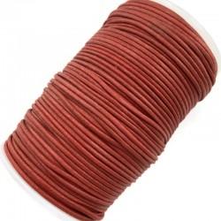 Indyjski Sznurek bawełniany woskowany 2mm - rudy