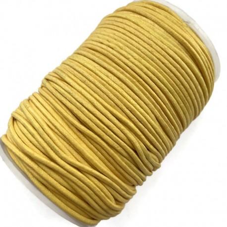 Indyjski Sznurek bawełniany woskowany 2mm - żółty