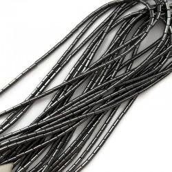 Hematyt wałek 2x2mm czarny