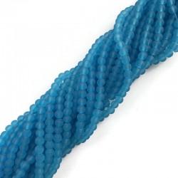 Szkło matowe kulka 4mm sznur niebieski