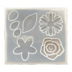 Forma do żywicy forma silikonowa do odlewów 10,5x9,5cm natura mix