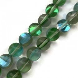Kwarc barwiony kulka gładka 12mm zielony