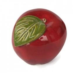 Jabłko ceramiczne czerwone małe, ozdoba do kuchni