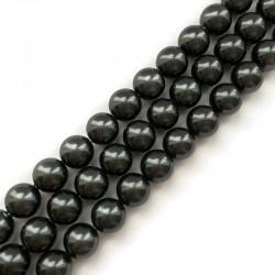 Perła majorka kulka gładka 10mm grafit