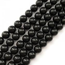 Perła majorka kulka gładka 10mm czarna